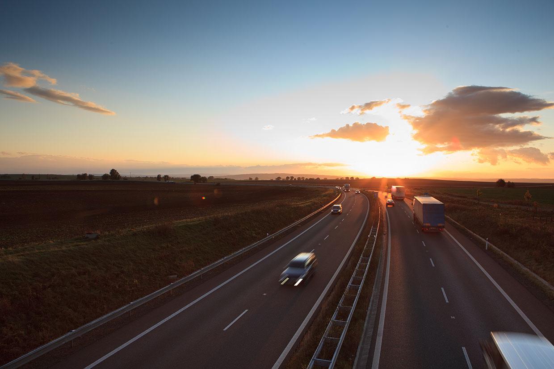 droga na autostradzie