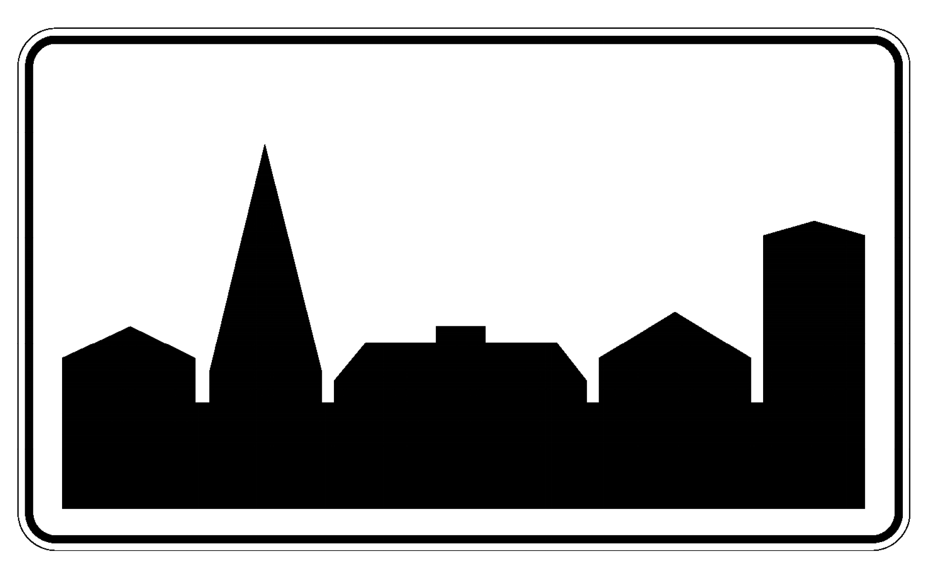 Znak obszar zabudowany