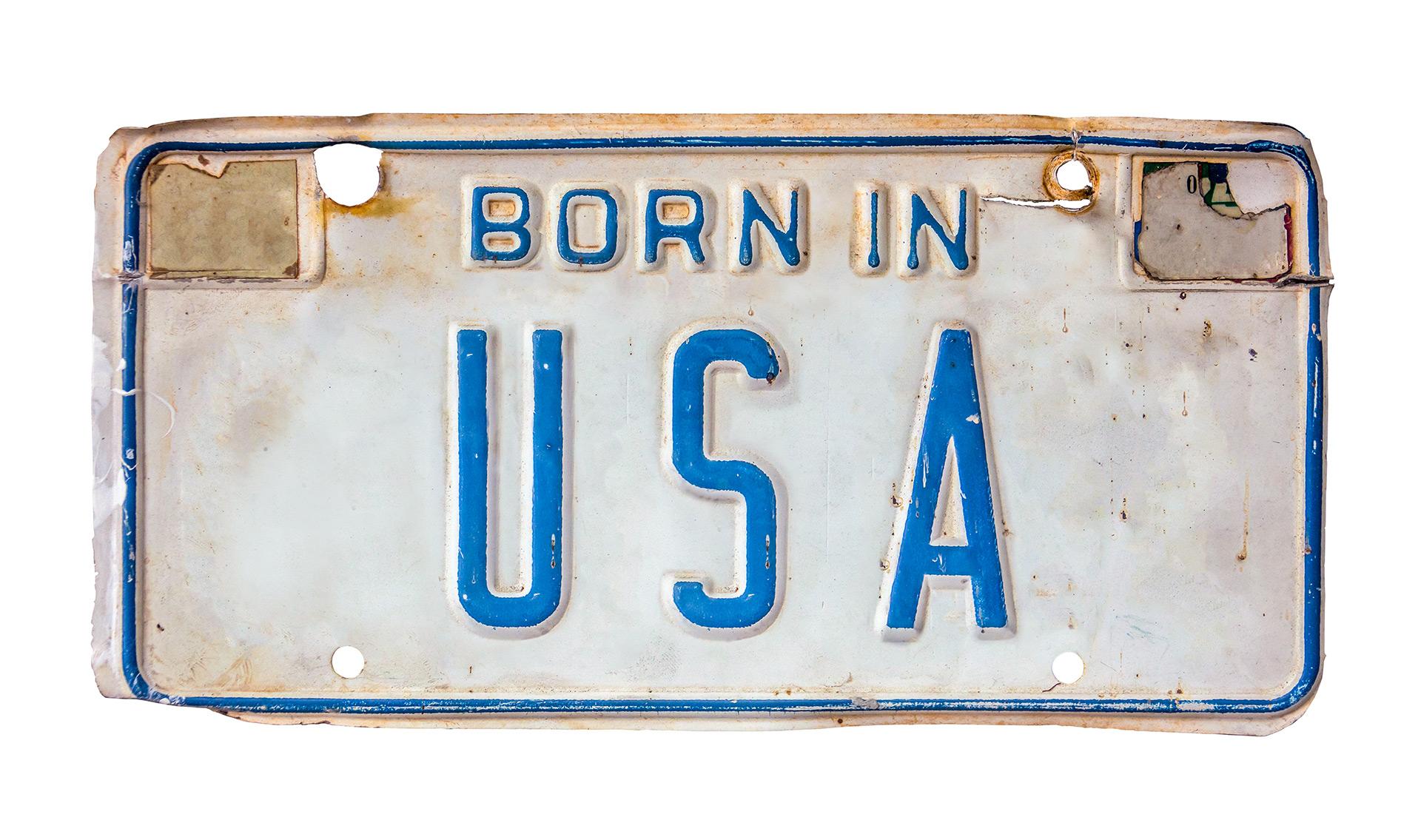 Indywidualne tablice rejestracyjne, ilustracja do artykułu, przykład z USA